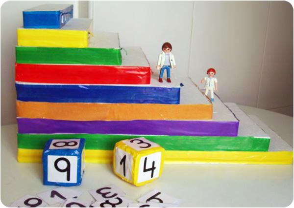 La escalera matem tica para aprender los n meros en infantil for Materiales para hacer una escalera
