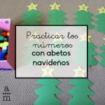 Practicar los números con abetos navideños