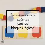 Serpientes de colores con los bloques lógicos