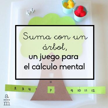 Suma con un árbol, un juego para el cálculo mental
