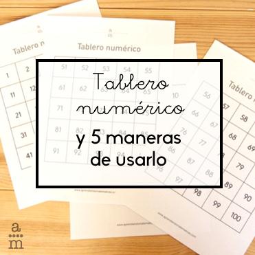 Tablero numérico y 5 maneras de usarlo - Aprendiendo matemáticas