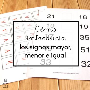 Cómo introducir los signos mayor, menor e igual - Aprendiendo ...