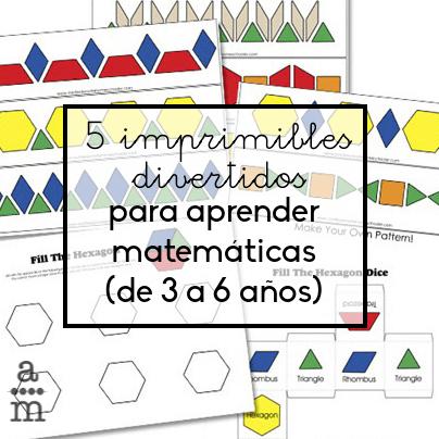 5 imprimibles divertidos para aprender matemáticas - Aprendiendo ...