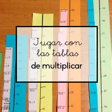 las tablas multiplicar