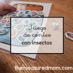 Juego de conteo con insectos