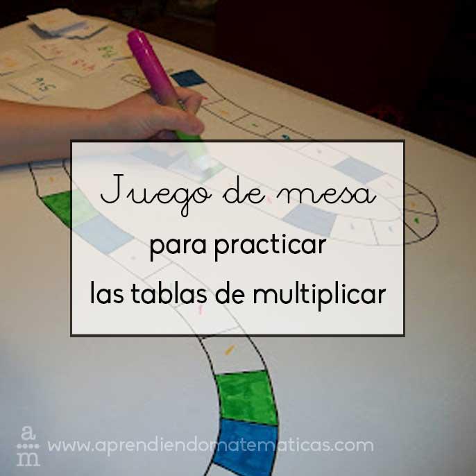 Juego De Mesa Para Practicar Las Tablas De Multiplicar Aprendiendo