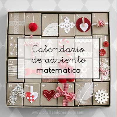 Adviento Calendario.Calendario De Adviento Matematico