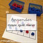 El juego perfecto para aprender los conceptos de menor, mayor e igual