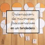 Ordenación de números fraccionarios en un tendedero