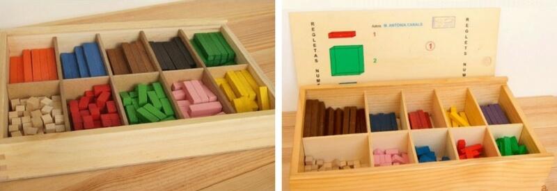 regletas matematicas en caja