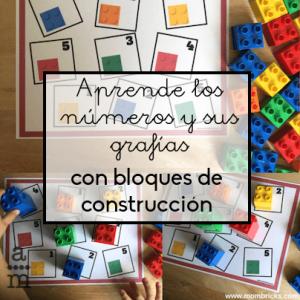 Aprender los números y sus grafías con bloques de construcción