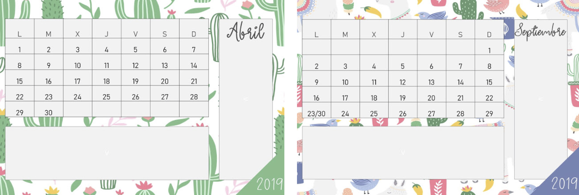 Calendario Planning.Imprimible Plantilla Calendario Organizacion Planning