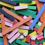 Plantillas de los cuadrados para las regletas Cuisenaire