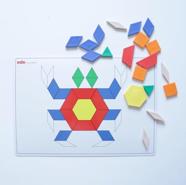 bloques geometricos plantillas