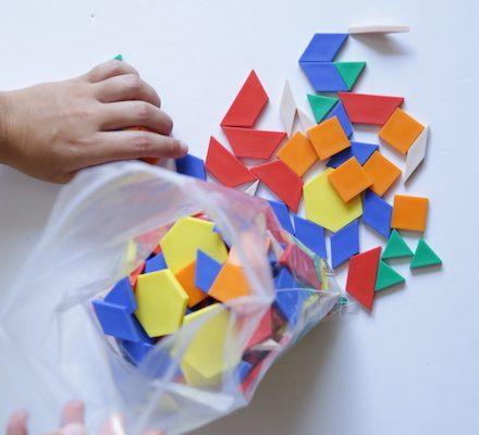 material bloques geometricos