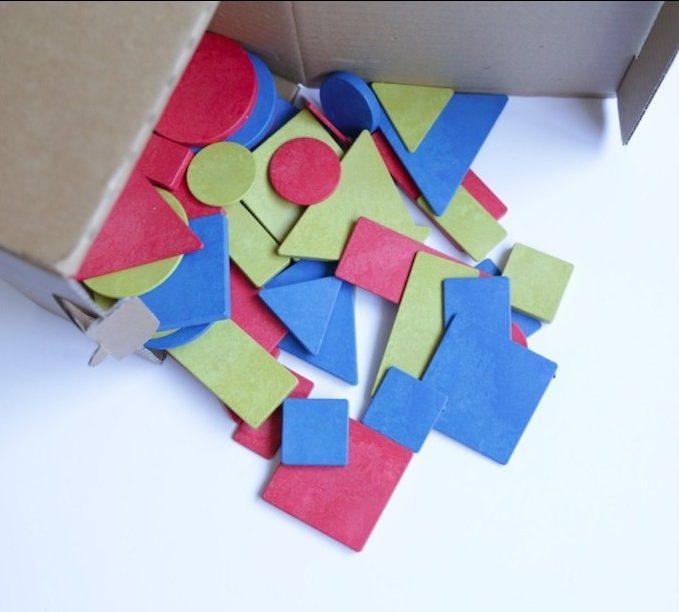 bloques logicos en madera reciclada