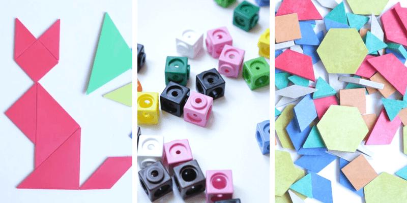 materiales manipulativos geometría